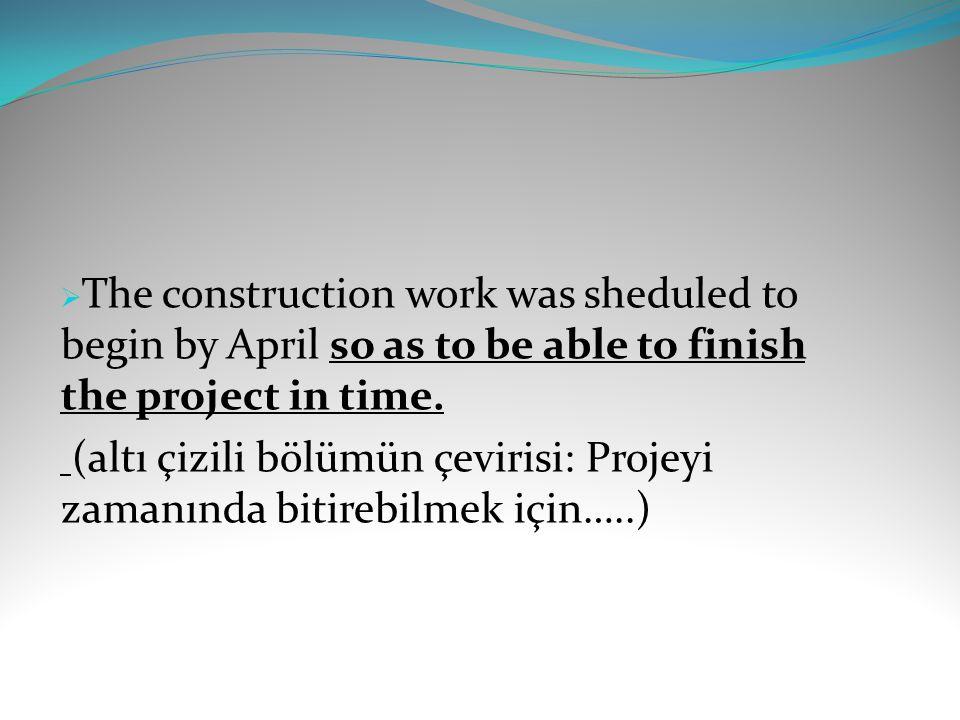 (altı çizili bölümün çevirisi: Projeyi zamanında bitirebilmek için…..)