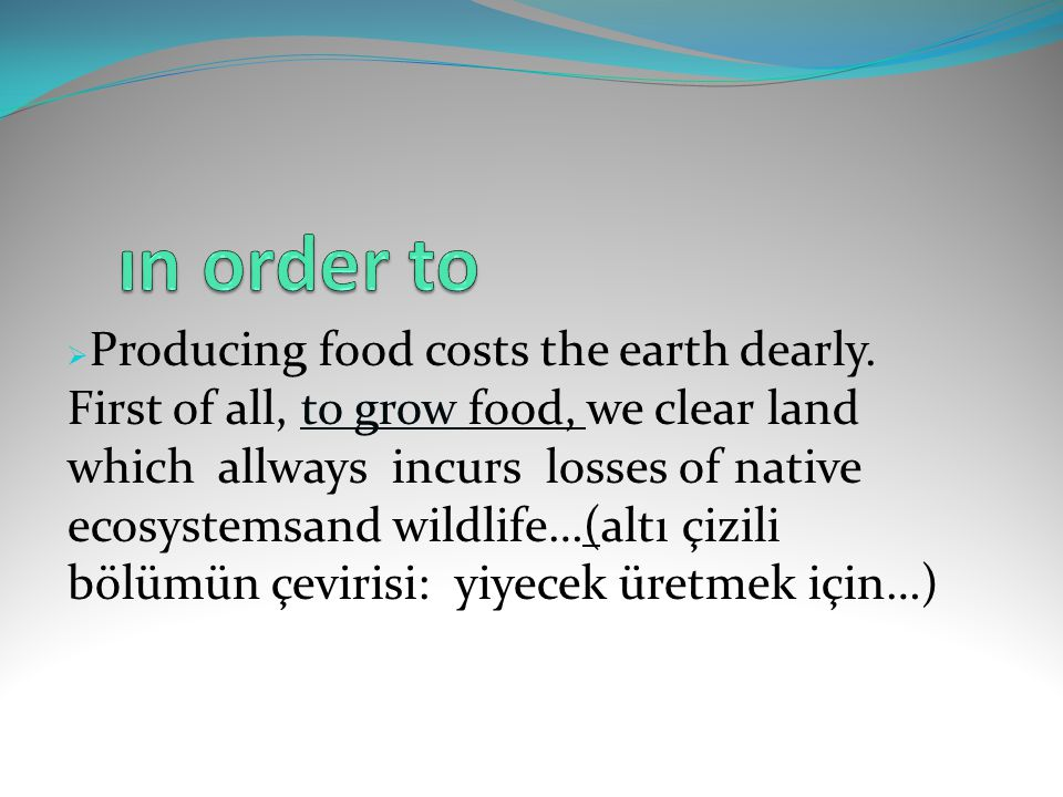 ın order to