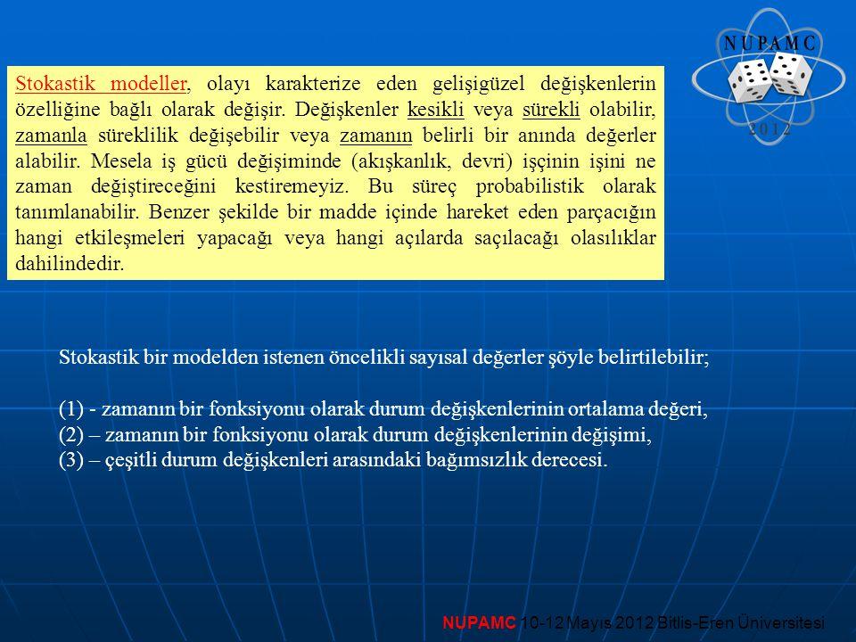 (2) – zamanın bir fonksiyonu olarak durum değişkenlerinin değişimi,