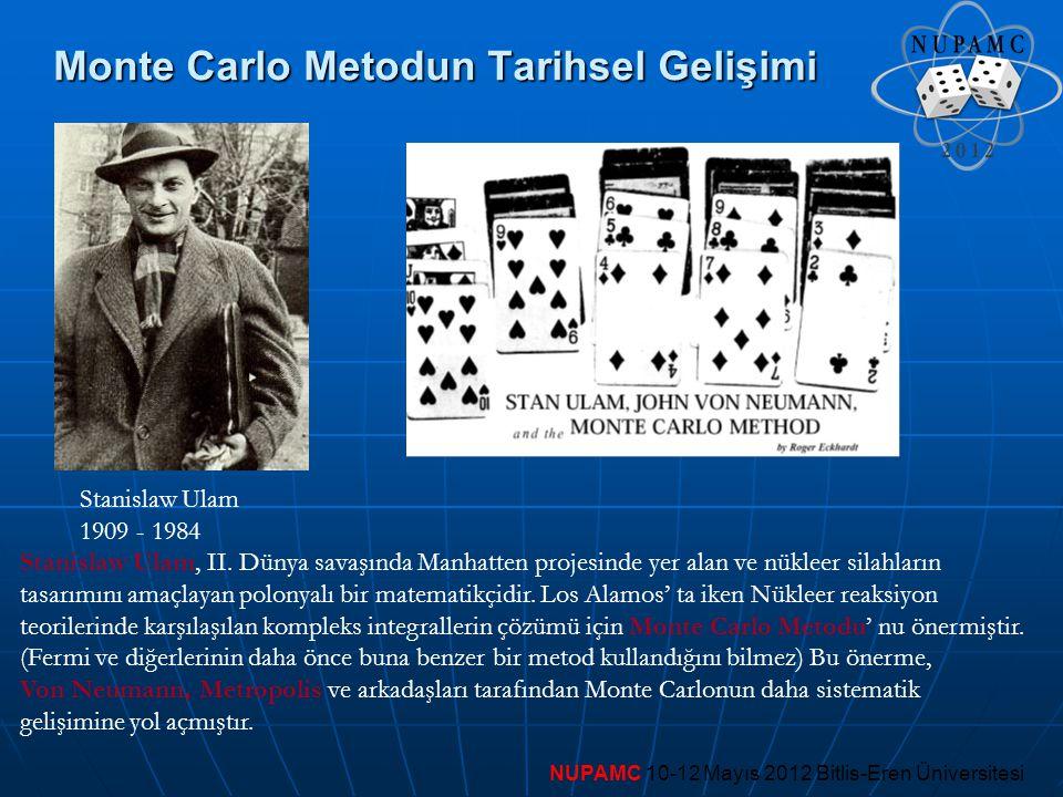 Monte Carlo Metodun Tarihsel Gelişimi