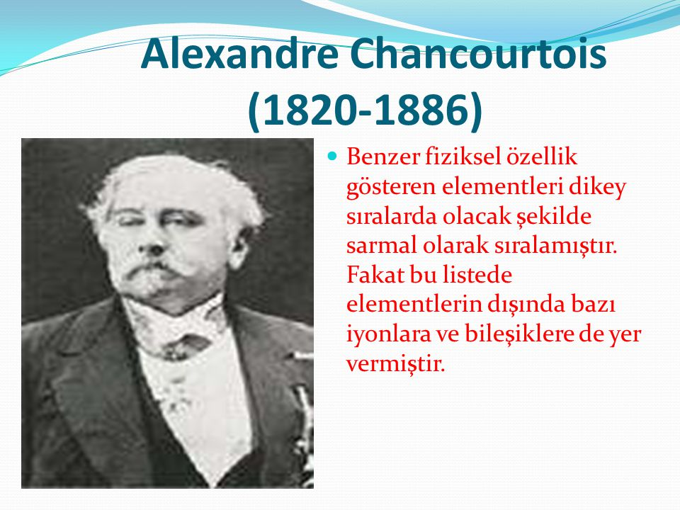 Alexandre Chancourtois (1820-1886)