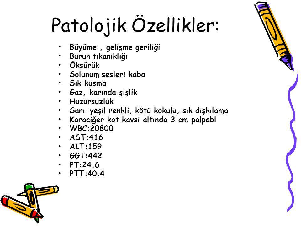 Patolojik Özellikler: