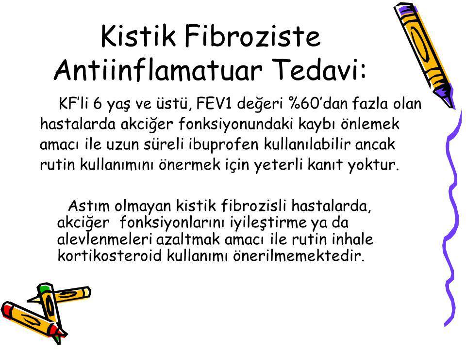 Kistik Fibroziste Antiinflamatuar Tedavi: