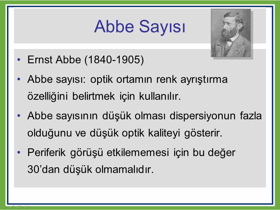 Abbe Sayısı Ernst Abbe (1840-1905)
