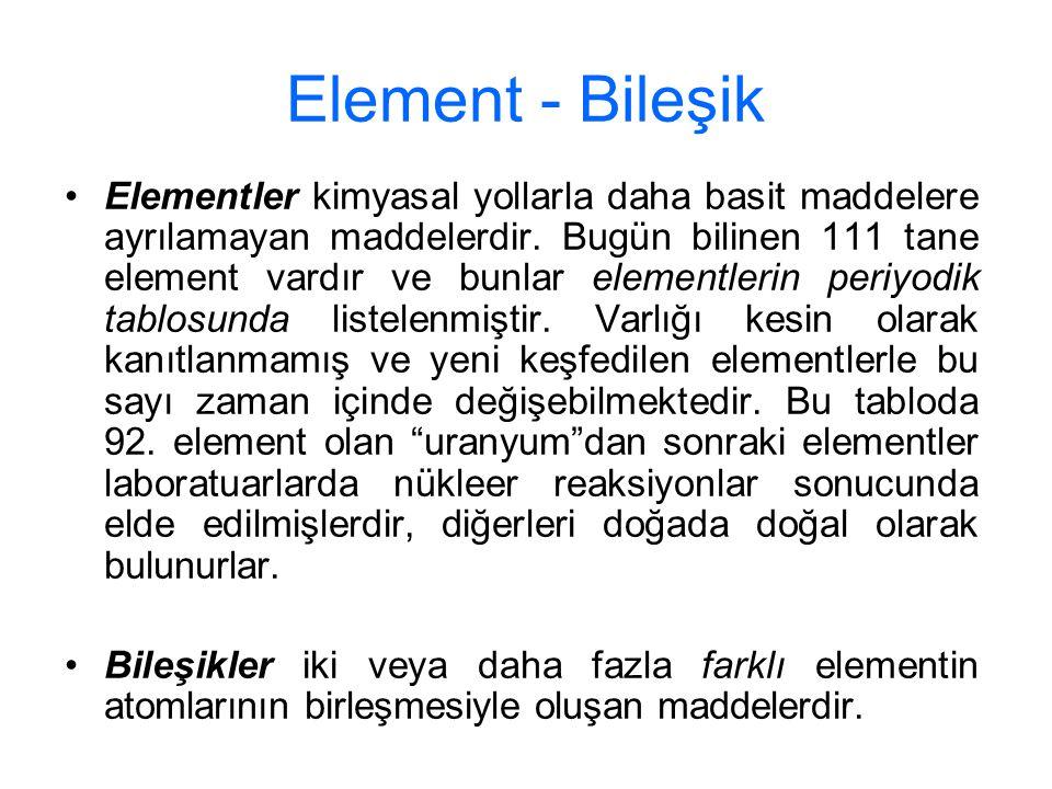 Element - Bileşik