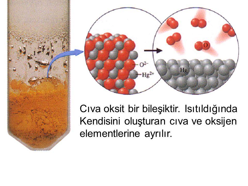 Cıva oksit bir bileşiktir. Isıtıldığında