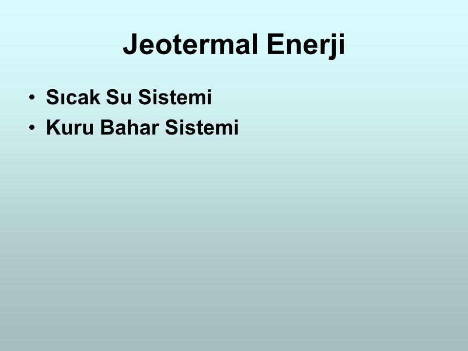 Jeotermal Enerji Sıcak Su Sistemi Kuru Bahar Sistemi