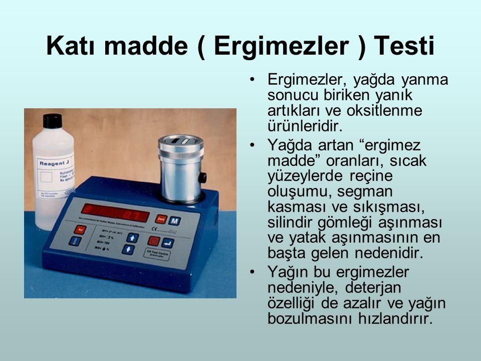 Katı madde ( Ergimezler ) Testi