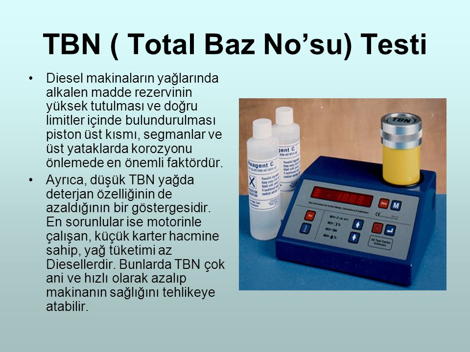 TBN ( Total Baz No'su) Testi