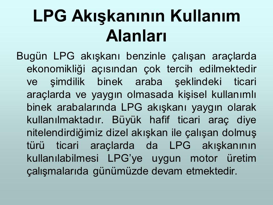 LPG Akışkanının Kullanım Alanları
