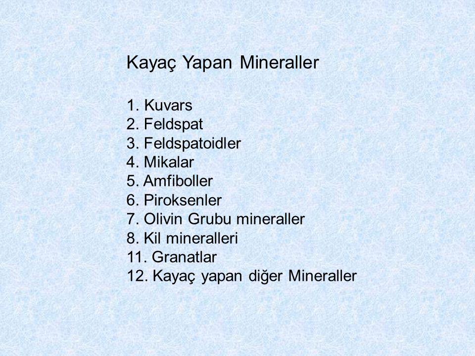 Kayaç Yapan Mineraller