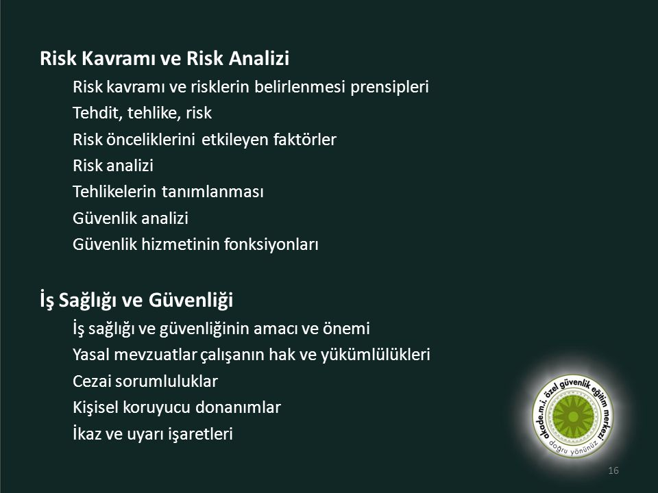 Risk Kavramı ve Risk Analizi