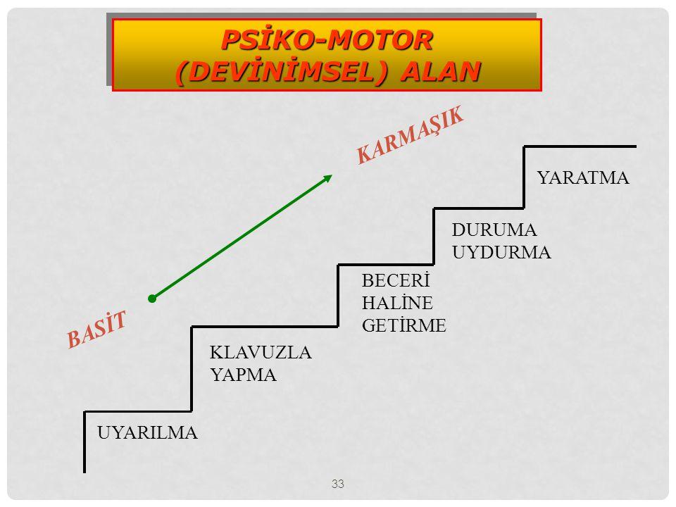 PSİKO-MOTOR (DEVİNİMSEL) ALAN