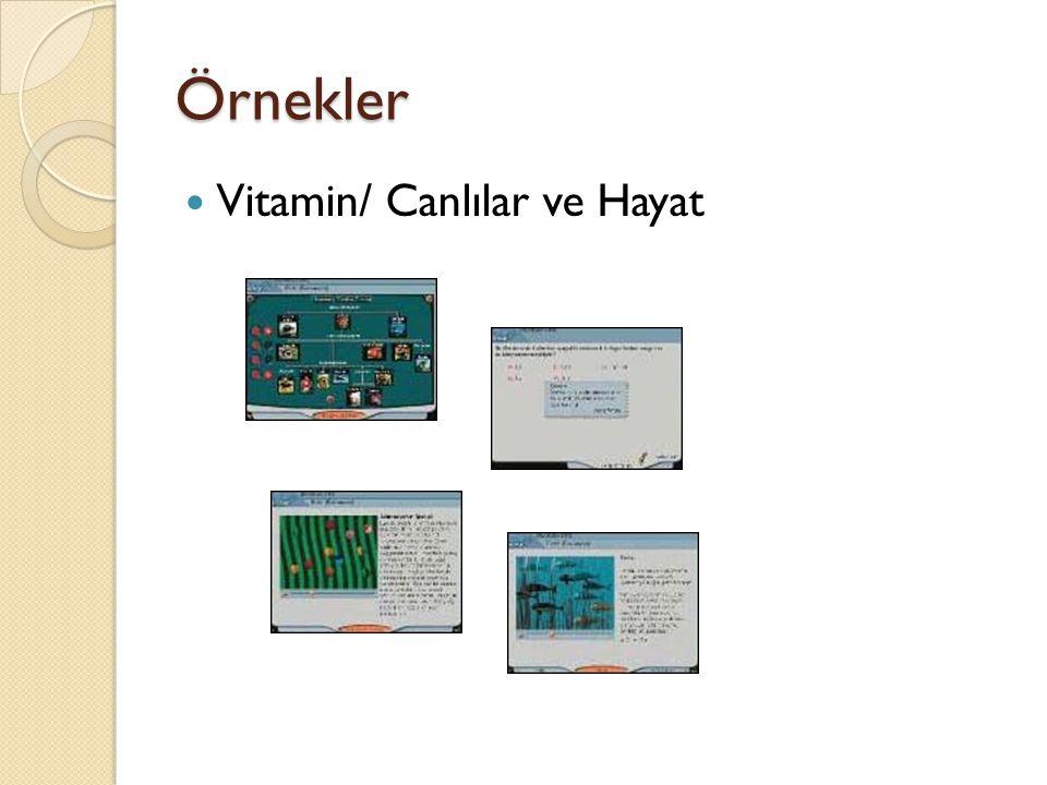 Örnekler Vitamin/ Canlılar ve Hayat
