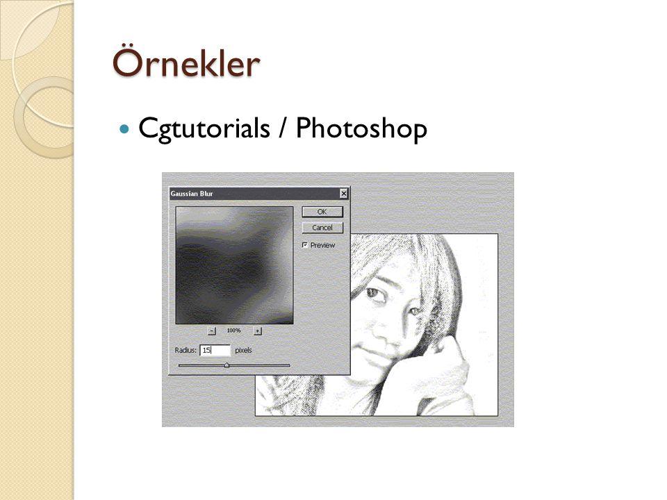 Örnekler Cgtutorials / Photoshop