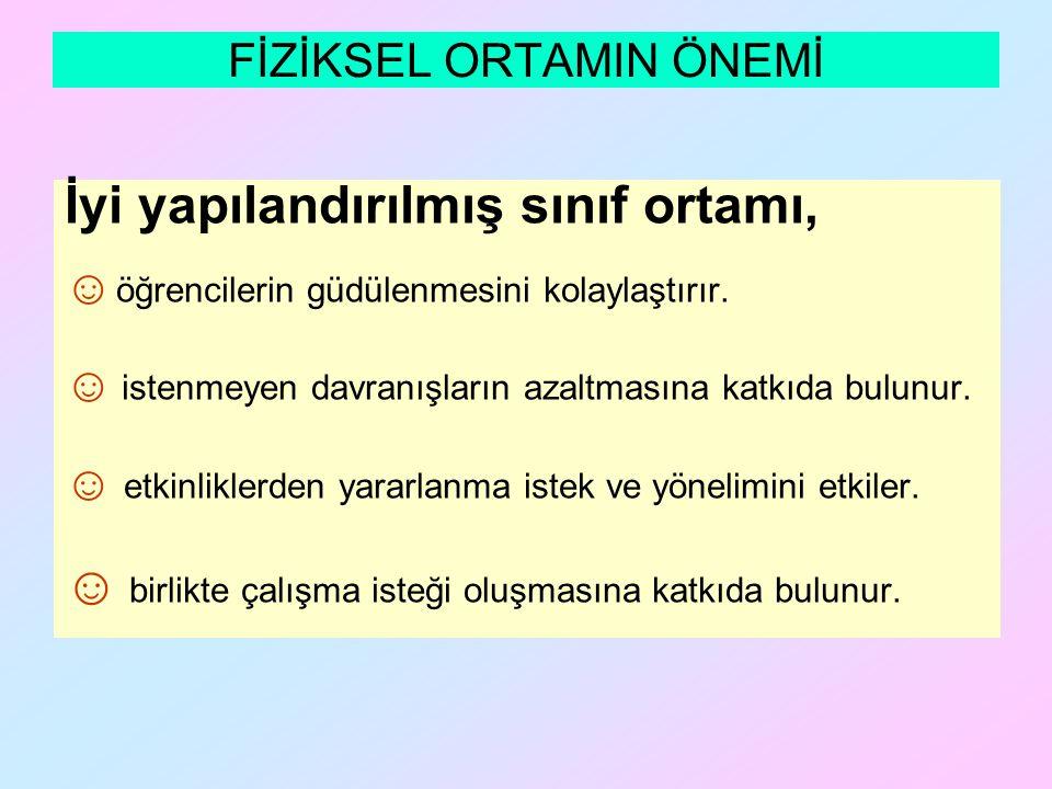 FİZİKSEL ORTAMIN ÖNEMİ