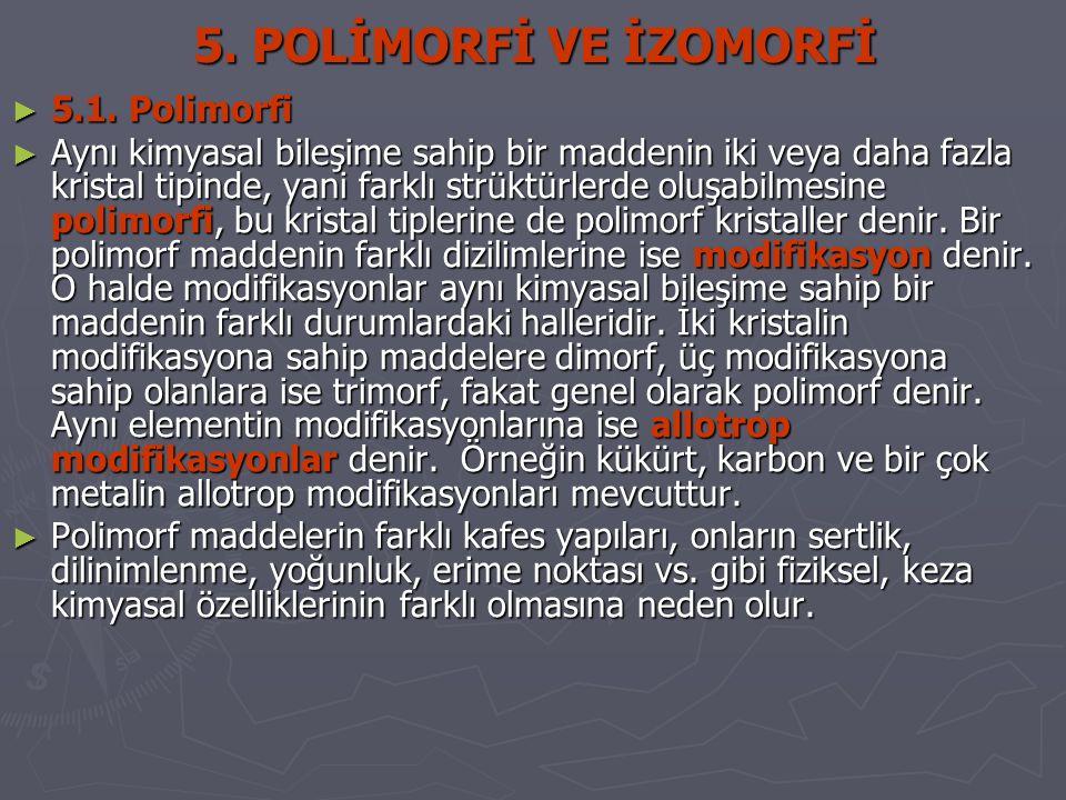 5. POLİMORFİ VE İZOMORFİ 5.1. Polimorfi