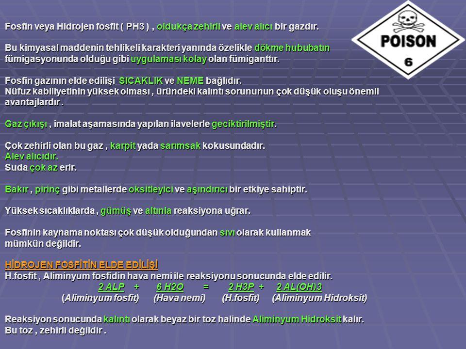 Fosfin veya Hidrojen fosfit ( PH3 ) , oldukça zehirli ve alev alıcı bir gazdır.