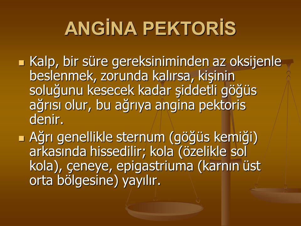 ANGİNA PEKTORİS