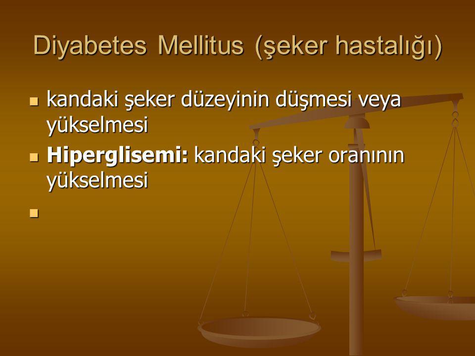 Diyabetes Mellitus (şeker hastalığı)