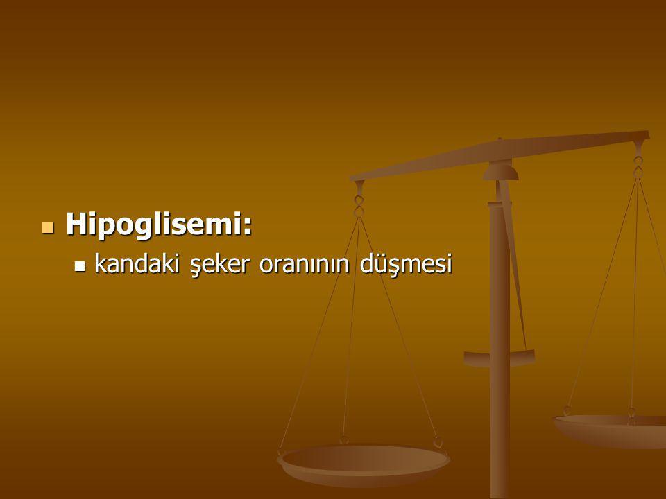 Hipoglisemi: kandaki şeker oranının düşmesi