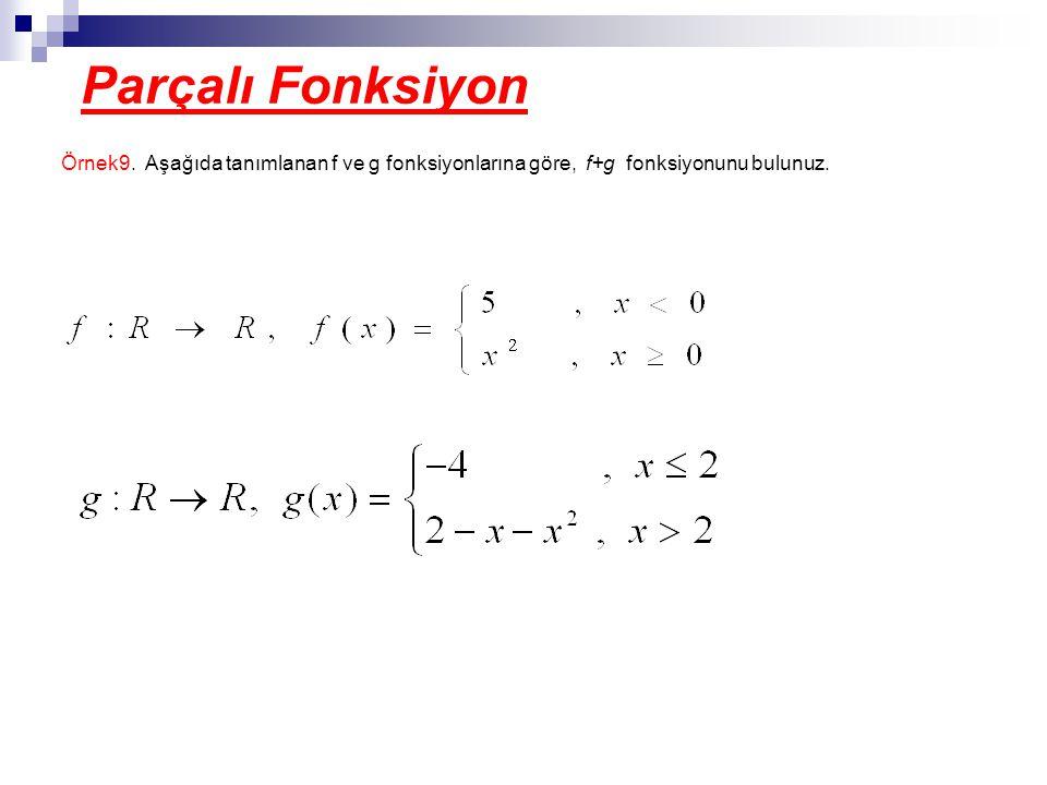 Parçalı Fonksiyon Örnek9.