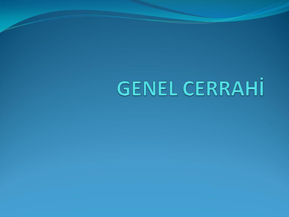 GENEL CERRAHİ
