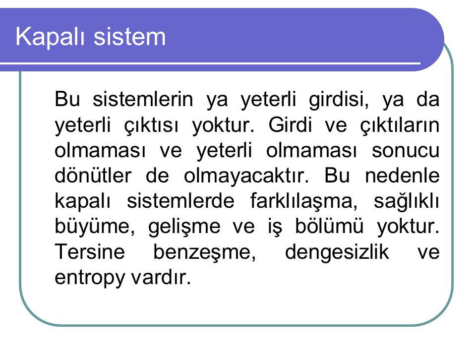 Kapalı sistem