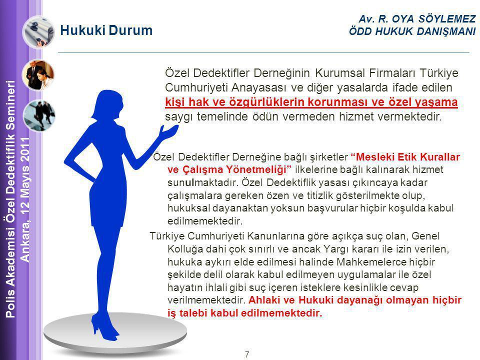 Polis Akademisi Özel Dedektiflik Semineri Ankara, 12 Mayıs 2011