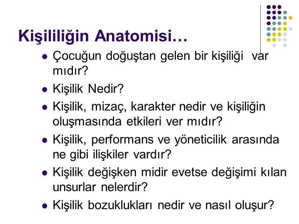 Kişililiğin Anatomisi…