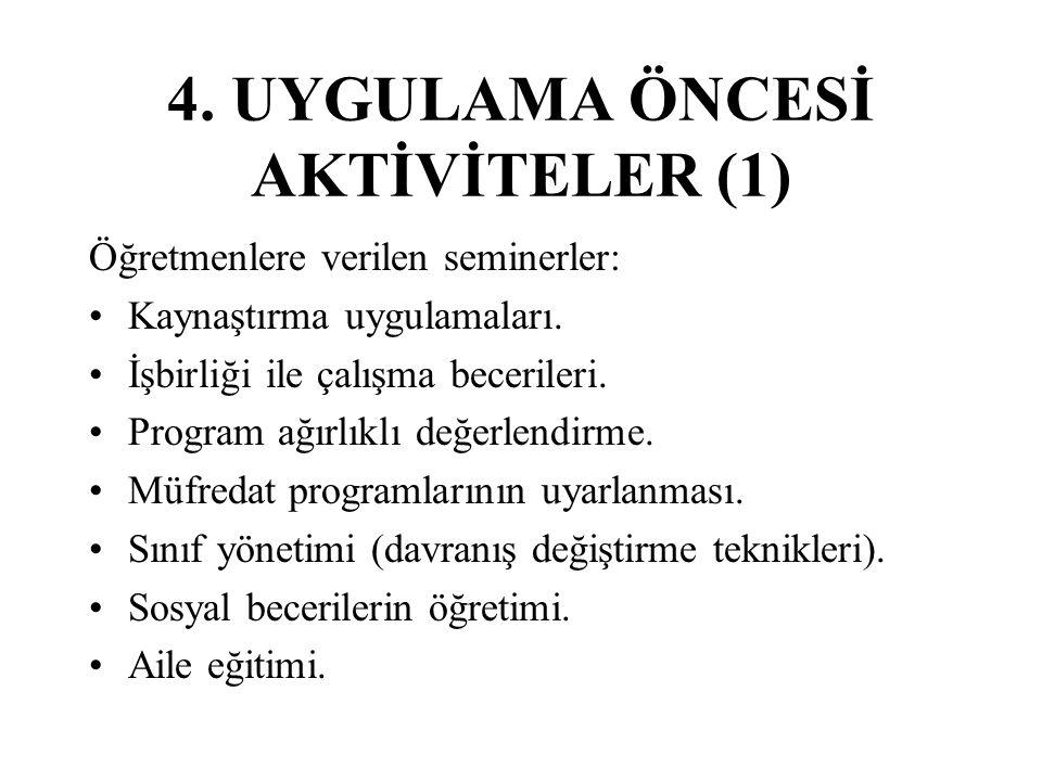 4. UYGULAMA ÖNCESİ AKTİVİTELER (1)