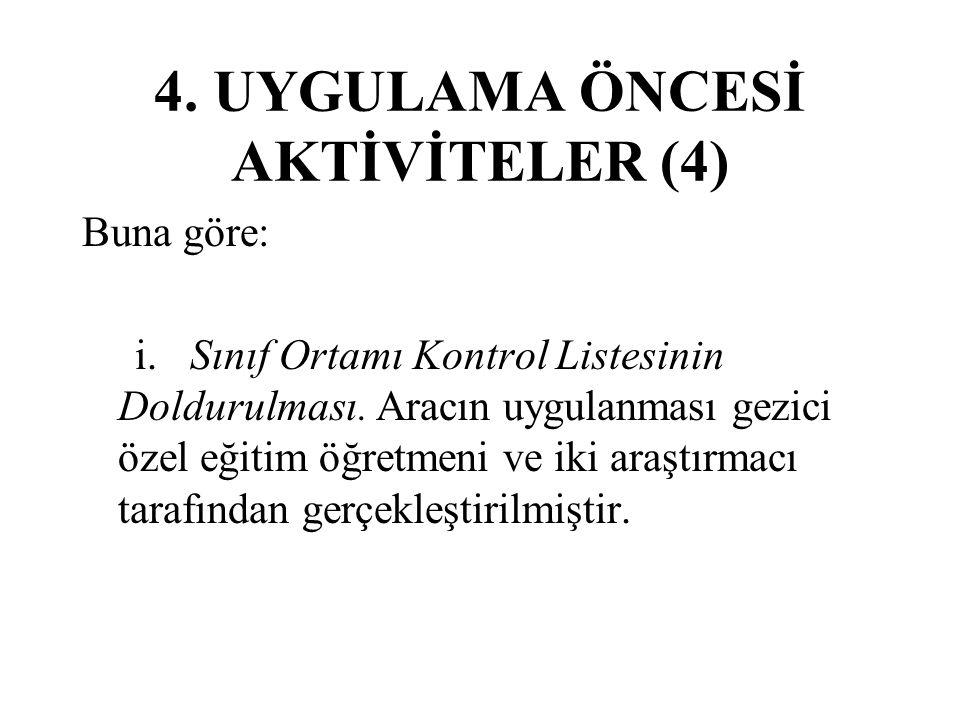 4. UYGULAMA ÖNCESİ AKTİVİTELER (4)