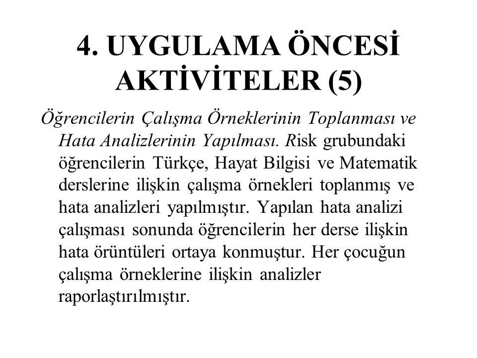4. UYGULAMA ÖNCESİ AKTİVİTELER (5)