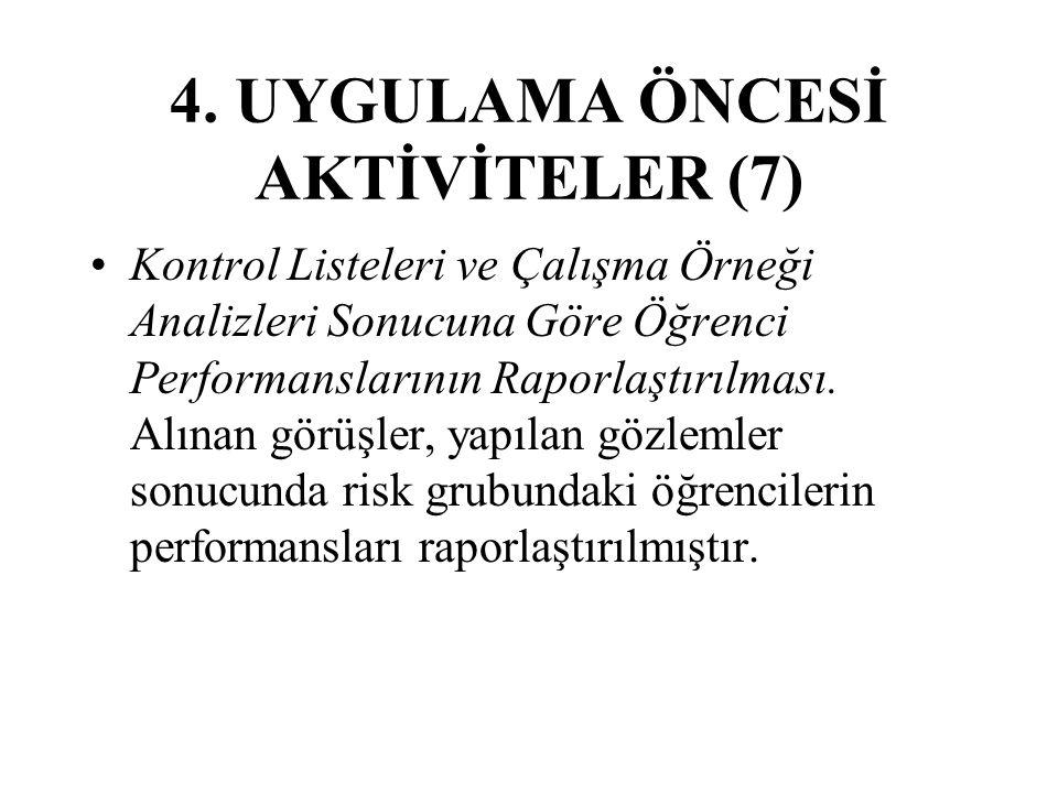 4. UYGULAMA ÖNCESİ AKTİVİTELER (7)