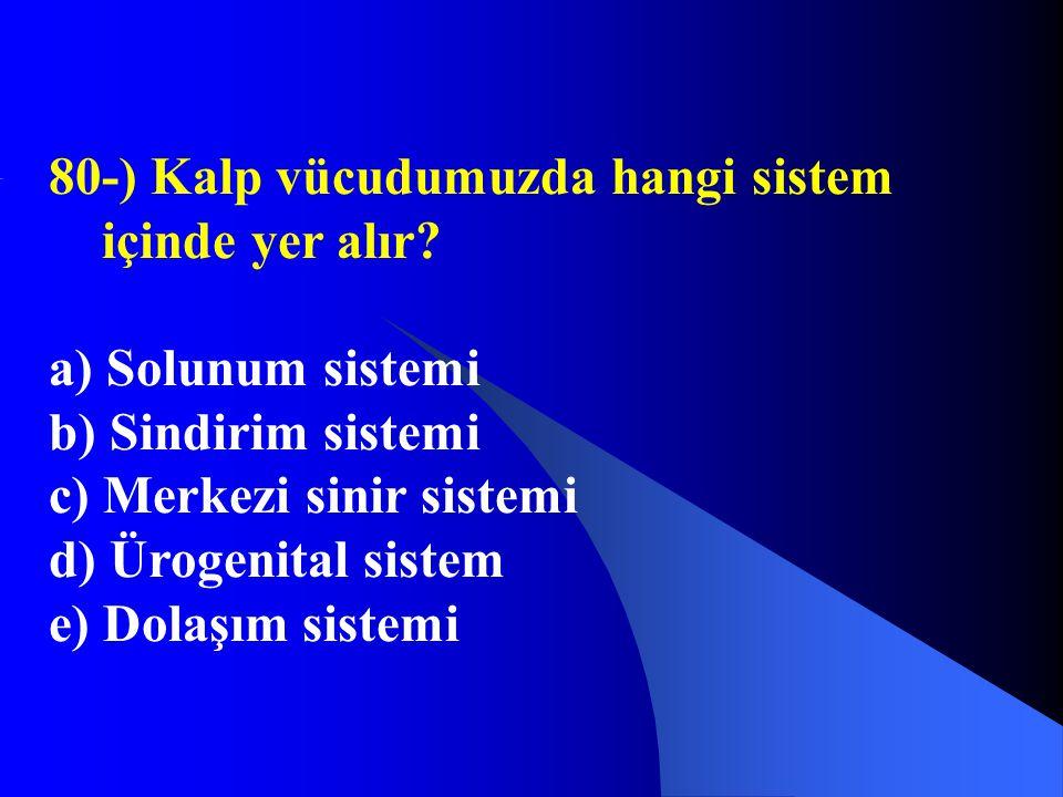 80-) Kalp vücudumuzda hangi sistem içinde yer alır