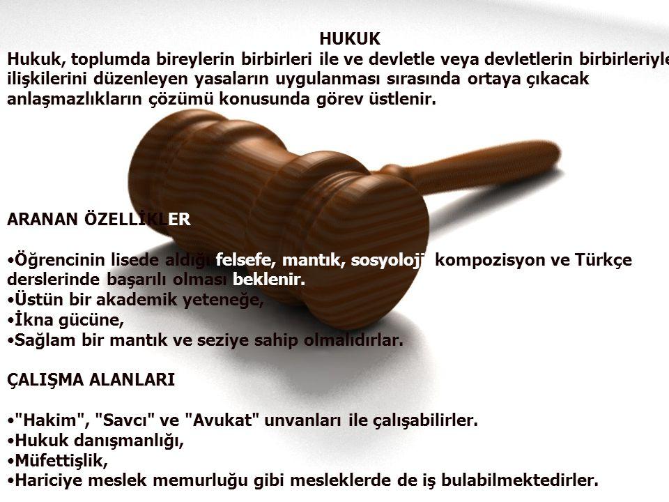 HUKUK Hukuk, toplumda bireylerin birbirleri ile ve devletle veya devletlerin birbirleriyle.