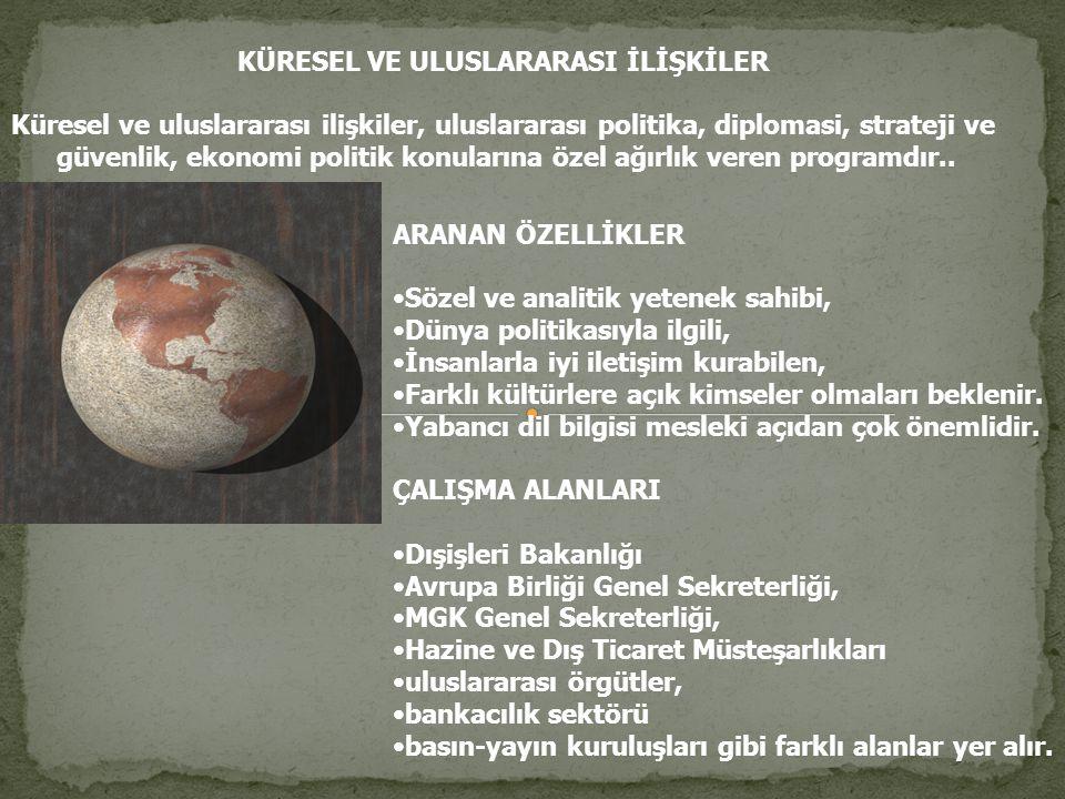 KÜRESEL VE ULUSLARARASI İLİŞKİLER