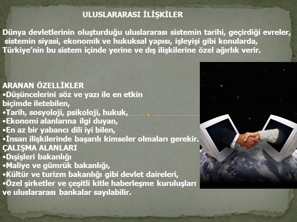 ULUSLARARASI İLİŞKİLER