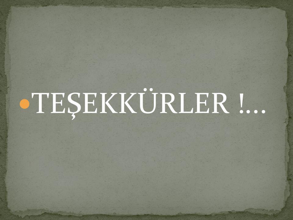 TEŞEKKÜRLER !...