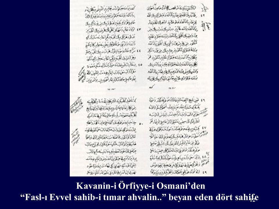 Kavanin-i Örfiyye-i Osmani'den