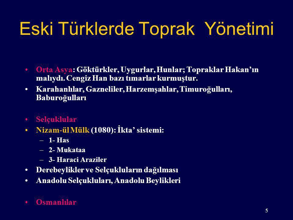 Eski Türklerde Toprak Yönetimi