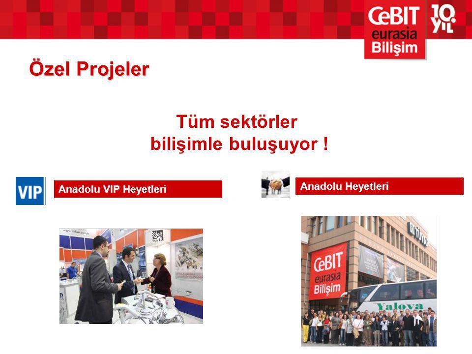 Özel Projeler Tüm sektörler bilişimle buluşuyor ! Anadolu Heyetleri