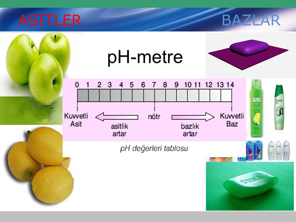 ASİTLER BAZLAR pH-metre