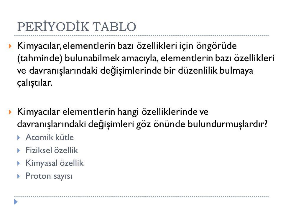 PERİYODİK TABLO
