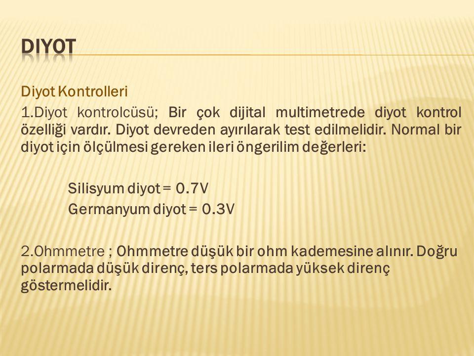 Diyot Diyot Kontrolleri