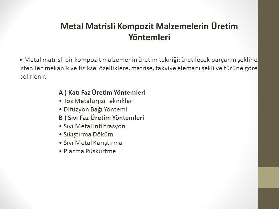 Metal Matrisli Kompozit Malzemelerin Üretim Yöntemleri