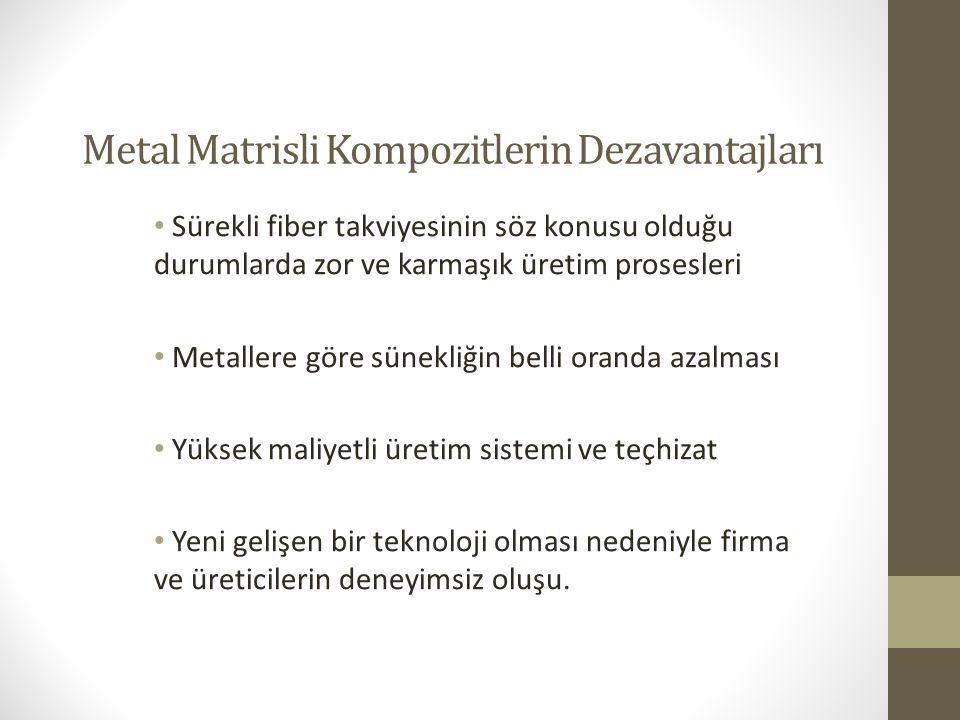 Metal Matrisli Kompozitlerin Dezavantajları