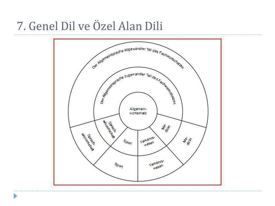7. Genel Dil ve Özel Alan Dili