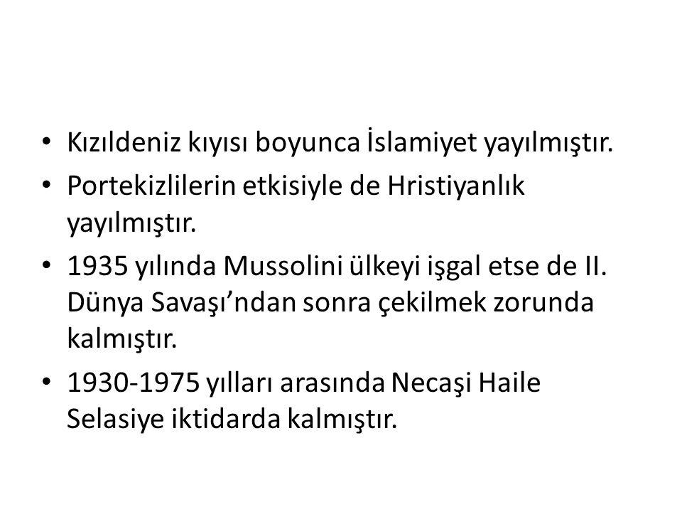 Kızıldeniz kıyısı boyunca İslamiyet yayılmıştır.