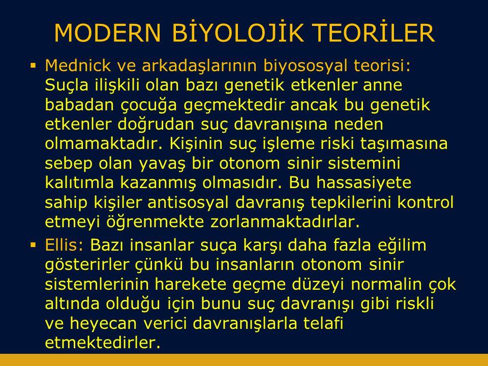 MODERN BİYOLOJİK TEORİLER